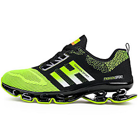 cheap Running Shoes-Men's Mesh Spring / Fall Comfort Athletic Shoes Running Shoes Black / Green / Party & Evening