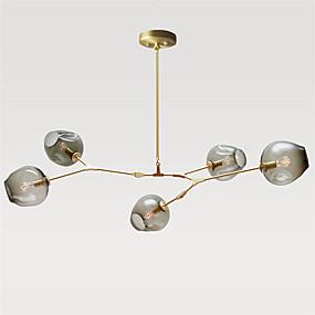 billige Takbelysning og vifter-5-Light Sputnik Anheng Lys Omgivelseslys Gylden Metall Glass Mini Stil 110-120V / 220-240V Pære ikke Inkludert / E26 / E27
