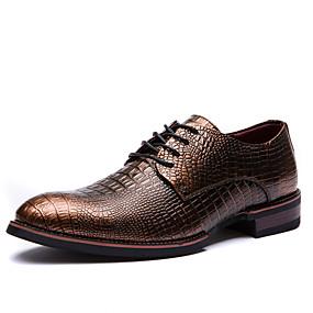 voordelige Wijdere maten schoenen-Heren Formele Schoenen Lakleer Herfst / Winter Oxfords Zwart / Wijn / Lichtbruin / Feesten & Uitgaan / Feesten & Uitgaan