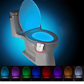 رخيصةأون تصفية-brelong 1 pc ترقية ماء 8-لون استشعار حركة جسم الإنسان pir المرحاض ضوء الليل