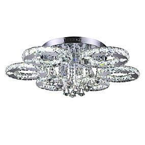 billige Krystall Lys-Takplafond Omgivelseslys Krom Metall Krystall, LED 110-120V / 220-240V Hvit LED lyskilde inkludert / Integrert LED