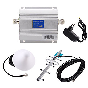 cheap Mobile Signal Boosters-LCD GSM 900MHz Cell Phone Signal Booster Amplifier Signal Repeater + Yagi Antenna Kit UL 890-915Mhz DL 935-960Mhz