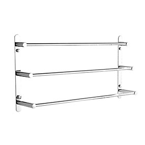 cheap Bath Accessories-Bathroom Accessory Set / Towel Bar / Robe Hook Multilayer / Cool / Multifunction Contemporary Stainless Steel 1pc - Bathroom / Hotel bath 3-towel bar Wall Mounted