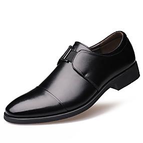 voordelige Wijdere maten schoenen-Heren Formele Schoenen Leer Lente / Herfst Comfortabel / Modieuze laarzen Oxfords waterdicht Zwart / Bruin / Feesten & Uitgaan / Veters / Feesten & Uitgaan / ulko- / Leren schoenen