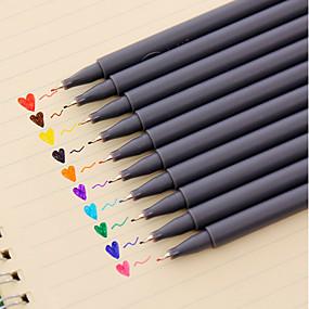 billige Office Supply & Dekorationer-Gel Pen Pen Akvarel Kuglepenne Pen, Plast Rød / Sort / Blå Blæk Farver Til Skoleartikler Kontorartikler Pakke med