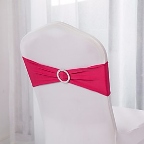 cheap Holiday Party Decorations-10Pcs Spandex Chair Bands Spandex Chair Sash Stretch Lycra Chair Bands With Buckle Wedding Decoration