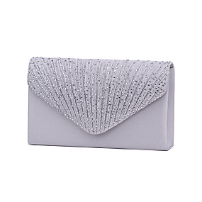 fca749a8fc31 Women's Crystal / Rhinestone Evening Bag / Tri-fold Rhinestone Crystal  Evening Bags Polyester Navy Blue / Almond / Wine / Wedding Bags / Wedding  Bags