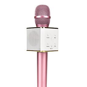 billige Skolestart - udsalg-original q7 magisk karaoke mikrofon telefon ktv afspiller trådløs kondensator bluetooth iphone android