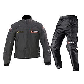 お買い得  スペシャル価格-DUHAN ジャケットパンツセット 織物 オールシーズン 防風 オートバイの腎臓ベルト