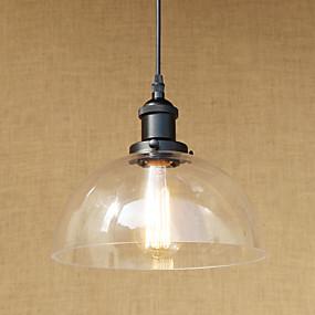 billige Hengelamper-Bowl Anheng Lys Omgivelseslys Malte Finishes Metall Glass Mini Stil, LED, designere 110-120V / 220-240V Pære Inkludert / E26 / E27