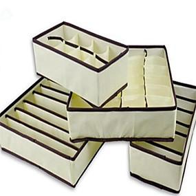 billige Lagring og oppbevaring-4 stk hjem oppbevaringsboks bøyler undertøy arrangør boks bra slips sokker lagringsarrangør
