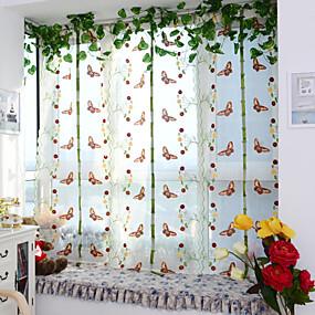 ราคาถูก ผ้าม่าน-Neoclassical เฉดสีผ้าม่านเชียร์ หนึ่งช่อง Sheer ห้องนั่งเล่น   Curtains / Living Room