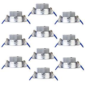 זול נורות לד שקועות-Youoklight 10pcs 3w 250lm ac85-265v 3 x lads חם לבן 3000k התקרה downlight-silver