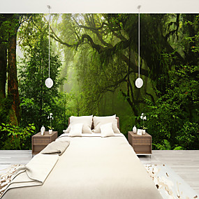 cheap Clearance-Forest Old Tree Custom 3D Large Wall Covering Mural Wallpaper Fit Restaurant Bedroom Office Landscape