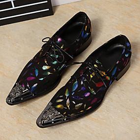 baratos Oxfords Masculinos-Homens Couro Primavera / Outono Conforto / Inovador / Sapatos formais Oxfords Caminhada Azul / Casamento / Festas & Noite / Cadarço / Festas & Noite