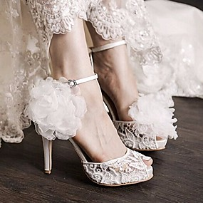 voordelige Wijdere maten schoenen-Dames Schoenen PU Lente Comfortabel Sandalen voor Causaal Wit