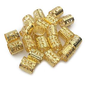 voordelige Gereedschap & Accessoires-Wig Accessories Legering Braiding Beads Dagelijks Klassiek Zilver Gouden Gemengde Kleur