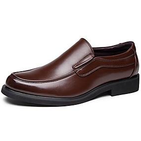 baratos Sapatilhas e Mocassins Masculinos-Homens Sapatos formais Couro Outono / Inverno Mocassins e Slip-Ons Preto / Castanho Claro / Festas & Noite / Vestido Loafers