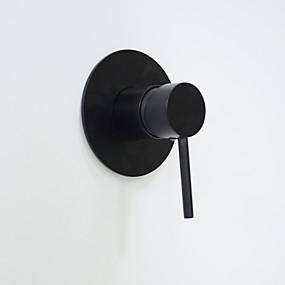 hesapli İndirim Musluklar-Duş Musluğu Yağlı Bronz Duvara Monte Edilmiş Seramik Vana Bath Shower Mixer Taps / Pirinç