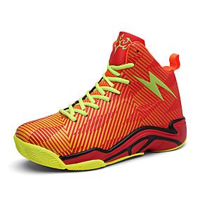 baratos Sapatos Esportivos Masculinos-Homens Sapatos Confortáveis Couro Sintético Verão / Outono Tênis Basquete Preto / Verde / Laranja / Atlético / Cadarço