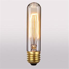 billige Glødelampe-1pc 40 W E26 / E27 T10 Varm hvit 2300 k Kontor / Bedrift / Dekorativ Glødende Vintage Edison lyspære 220-240 V / 110-130 V