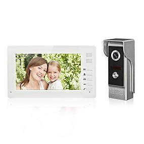 voordelige Toegangscontrolesystemen-7 inch kleur handsfree video deurtelefoon intercom systeem deurbel een monitor met waterdichte camera