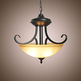 abordables Plafonniers-3 lumières Inversé Lampe suspendue Lumière d'ambiance Autres Métal Verre 110-120V / 220-240V Ampoule non incluse / E26 / E27