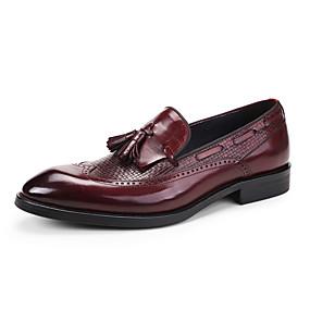 abordables Déstockage-Homme Chaussures Formal Cuir Printemps / Automne Chaussures de mariage Noir / Rouge Bordeaux / Mariage / Soirée & Evénement / Soirée & Evénement / Chaussures habillées