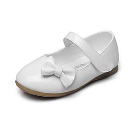 baratos Kids' Shoes Promotion-Para Meninas Courino Rasos Little Kids (4-7 anos) / Big Kids (7 anos +) Conforto / Sapatos para Daminhas de Honra Laço / Velcro Preto / Vermelho / Rosa claro Primavera / Outono / Casamento / EU37