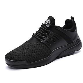 cheap Men's Sneakers-Men's Light Soles Knit Summer / Fall Sneakers White / Black / Red
