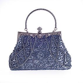 preiswerte Abendtasche-Damen Strass / Perlen Verzierung Abendtasche Strass Kristall Abendtaschen Polyester Grau / Purpur / Marinenblau