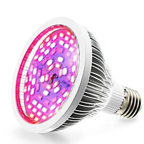 billige LED Økende Lamper-1pc 12 W Voksende lyspære 2500-3200LM E26 / E27 78 LED perler SMD 5730 Hvit Rød Blå 85-265 V / 1 stk. / RoHs / FCC