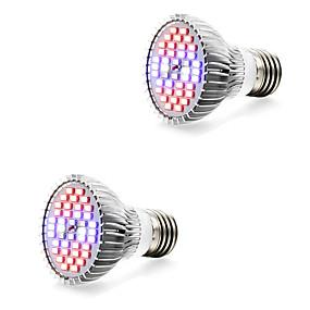 billige LED Økende Lamper-2pcs 7 W Voksende lyspære 800-1200 lm E14 GU10 E27 40 LED perler SMD 5730 Varm hvit Hvit Rød 85-265 V / 2 stk. / RoHs / FCC