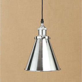abordables Plafonniers-Lampe suspendue Lumière dirigée vers le bas Chrome Métal Antireflet, Ampoule incluse, Designers 110-120V / 220-240V Ampoule incluse / E26 / E27