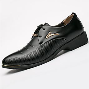 baratos Oxfords Masculinos-Homens Sapatos formais Couro Ecológico Primavera / Outono Negócio Oxfords Preto / Marron / Tachas / Ao ar livre / EU40