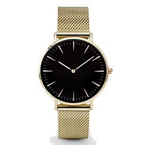 ราคาถูก เครื่องประดับ&นาฬิกา-สำหรับผู้ชาย นาฬิกาข้อมือ นาฬิกาทอง นาฬิกาอิเล็กทรอนิกส์ (Quartz) ดำ / เงิน / ทอง นาฬิกาใส่ลำลอง ระบบอนาล็อก สุภาพสตรี ไม่เป็นทางการ แฟชั่น ที่เรียบง่าย - Rose Gold ทอง / สีขาว White / Gold / หนึ่งปี
