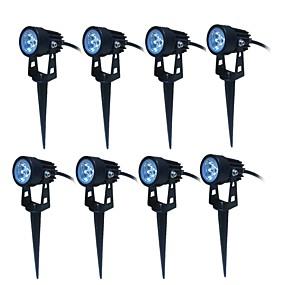 halpa Valonheittimet-jiawen 8kpl johti puutarhapiste lampun maisema 3w ulkovalaistus ac85-265v johti nurmikko lamppu vedenpitävä ip65