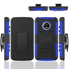 זול טלפונים ואביזרים-מגן עבור Moto G / מוטורולה עמיד בזעזועים / עם מעמד כיסוי אחורי שִׁריוֹן קשיח PC ל מוטו G5