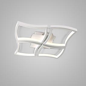 hesapli Gömme Montaj-4-Işık Sıva Altı Monteli Ortam Işığı Boyalı kaplamalar Metal Mat, Ampul Dahil, Ayarlanabilir 110-120V / 220-240V Sıcak Beyaz / Soğuk Beyaz LED Işık Kaynağı Dahil / Birleştirilmiş LED