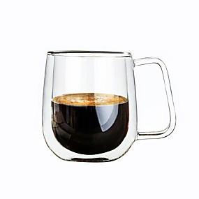 billige Drikkeglass-Glass Mugge Vin glass Double Wall Varmeisolering 1 Kaffe Melk Drikkeglas