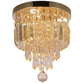 tanie Mocowanie przysufitowe-3 światła Kryształ Podtynkowy Światło rozproszone Malowane wykończenia Metal Kryształ, Zawiera żarówkę, projektanci 110-120V / 220-240V Źródło światła LED w zestawie / LED zintegrowany