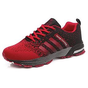 baratos Sapatos Esportivos Femininos-Mulheres Tênis Creepers Tule Conforto Corrida Verão / Outono Vermelho / Verde / Rosa Claro
