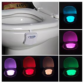cheap 80% OFF-Bathroom Toilet Nightlight LED Body Motion Activated On/Off Seat Sensor Lamp PIR Toilet Night Light lamp
