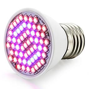 billige LED Økende Lamper-1pc 2.5 W Voksende lyspære 360-420LM E26 / E27 60 LED perler SMD 2835 Rød Blå 85-265 V / 1 stk. / RoHs / FCC