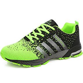 voordelige Wijdere maten schoenen-Heren Comfort schoenen Tule Zomer / Herfst Sportschoenen Hardlopen Groen / Rood / Blauw / Sportief / Veters