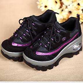 baratos Sapatos Esportivos Femininos-Mulheres Tênis Creepers Sintéticos Conforto Fitness Outono / Inverno Preto / Vermelho / Rosa claro / Festas & Noite / EU39