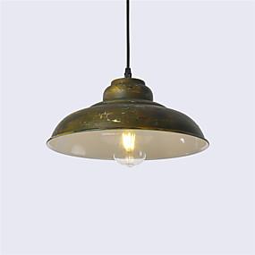 billige Hengelamper-Nord-Europa vintage industri metall skygge anheng lys 1-lys spisestue stue kjøkken malt finish