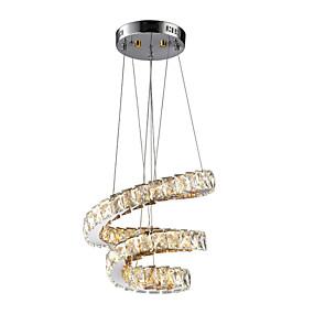 billige Hengelamper-OBSESS® Takplafond Omgivelseslys - Krystall, Pære Inkludert, 110-120V / 220-240V, Varm Hvit, LED lyskilde inkludert / 5-10㎡ / Integrert LED