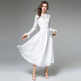 f8b67e613982 Γυναικεία Εξόδου Γραμμή Α Φόρεμα - Μονόχρωμο