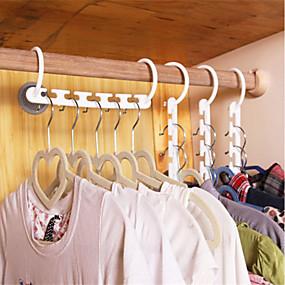 billige Lagring og oppbevaring-husholdning plast lagre plass glidende kleshengere multifunksjon brett klær henger magisk henger nyttig